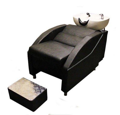 Salon-Friseur Barbiere Rückseite Waschbecken mit Stuhl und footrest-9674