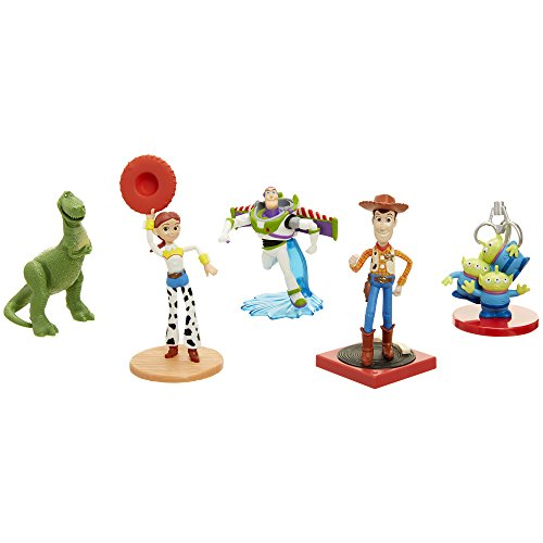 Jakks 71579 - Disney Toy Story 5er Pack Figuren Set - Woody, Buzz Lightyear, Jessie, Rex, und Aliens