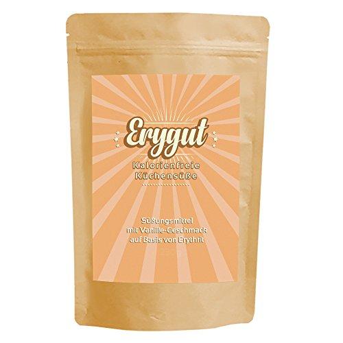 Erygut Vanille 150g   Kalorienarmer Vanillezuckerersatz aus Erythrit   Süßungsmittel zum Kochen und Backen   Foodtastic Erythritol Light