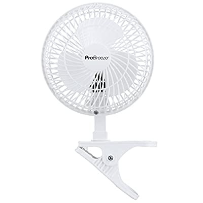 "Pro Breeze Professional Mini 6"" Clip Fan for Home, Office and Desk (2-Speed)"