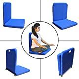 Kawachi Right Angle Back Support Portable Relaxing Folding Yoga Meditation Chair Blue