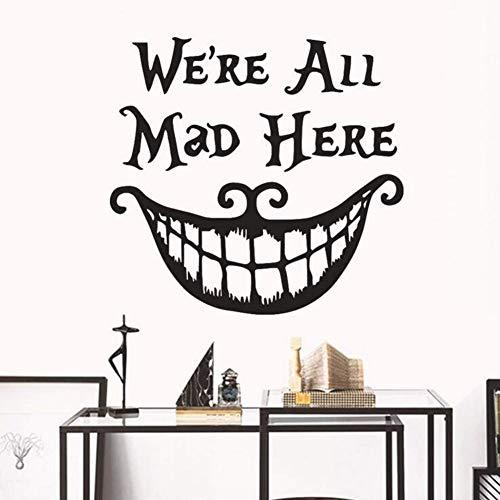 zimmer Wand Stickerblack Große Maus Halloween Charaktere Wandaufkleber Für Wohnzimmer Schlafzimmer Party Küche Dekoration Vinyl Diy Kunst Decals 50X70 Cm ()