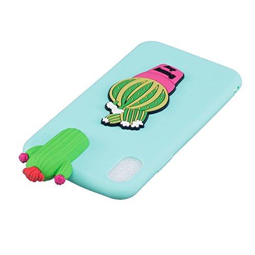 TPU Hülle für iPhone X,Silikon Hülle für iPhone X,Funyye Komisch 3D Erdbeere Entwurf Ultra Dünnen Scratch Resistant Bumper Soft Rückseite Abdeckung Cover Tasche für iPhone X + 1 x Frei Displayschutzfo Muster #7