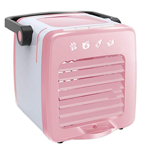 Sixcup Climatiseur Portable d'air Refroidisseur d'air de Bureau avec Arôme de Domestique Mini de Ventilateur dans Le Dortoir Climatiseur de Charge USB Ventilateur Portable Petit Climatiseur (Rose)