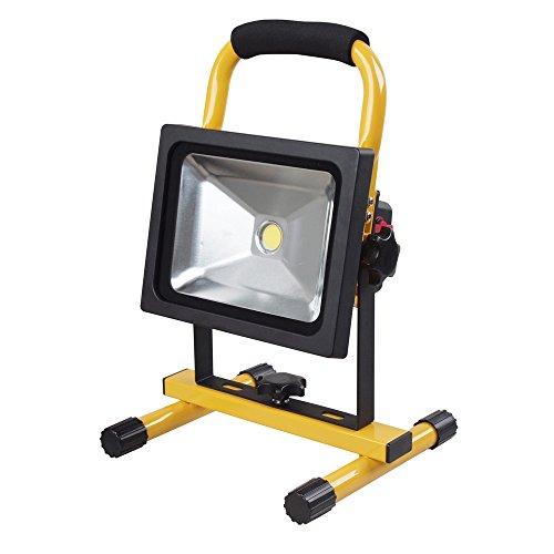 LED\'s Work LED Akku Strahler 20 W Handlampe Arbeitsleuchte Baustrahler IP65 Fluter Baulicht 300136