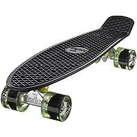 Ridge Skateboard Mini Cruiser, schwarz-klar grün, 22 Zoll