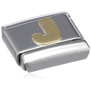 Nomination Composable Classic BUCHSTABEN Edelstahl und 18K-Gold (J) 030101