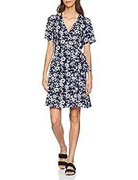 Warehouse Damen Kleid Willow Print Wrap