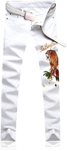 jeansian Herrenmode Casual Pants Jeans-Hose J229 MJB115_White