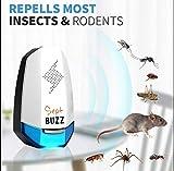 Repellente Zanzare Ad Ultrasuoni 2a Generazione 2019 Per Insetti Elettromagnetico dissuasore ratti scacciatopi Anti...