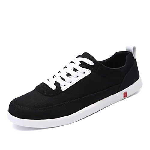 Hommes Chaussures De Sport Plat Chaussures Respirantes En Toile Chaussures Décontractées Ballerines Euro Sneakers Taille 39-44 Noir