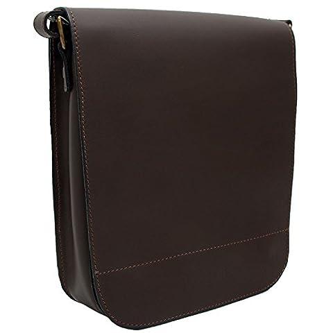 Koson Leather Handgefertigt Messenger Tasche für Herren, Leder Umhängetasche