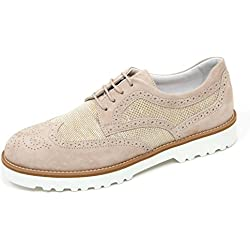 C8252 scarpa donna HOGAN H259 route francesina beige shoe woman  39  23503bf943e