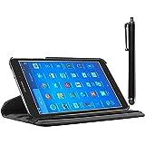 ebestStar - Cover Compatibile con Samsung Galaxy Tab 4 8.0 SM-T330, T331 SM-T335 Custodia Protezione Pelle PU con Supporto Rotazione 360 + Penna, Nero [Apparecchio: 210 x 124 x 8mm, 8.0'']