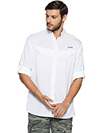 Columbia Men's Plain Loose Fit Synthetic Casual Shirt
