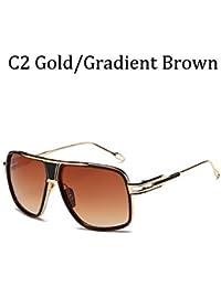 HGGH 2020 Vuelo Estilo Gafas de Sol Gafas de Sol Masculina (Lenses Color : C2)