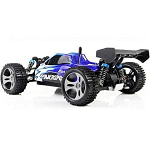 Yacool ® Wltoys A959 Rc voiture 1/18 2.4Gh 4WD Buggy Off-Road - bleu