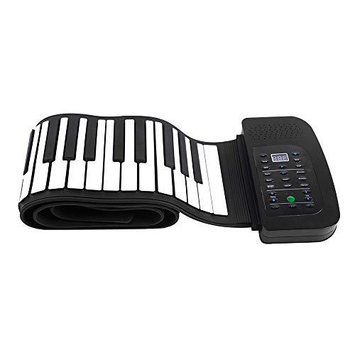 LuckyAnn Portable 88 Tasten Silikon Flexible Roll Up Piano Faltbare Tastatur Handrollen Klavier mit Batterie Sustain Pedal (Klavier-tastatur-roll-up-88)