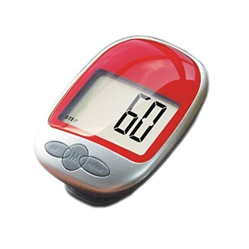 Pixnor Digital LCD Pedometer Pocket Counter zu Fuß (rot) (Element Lcd)