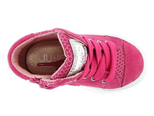 LIU-JO Girl Chaussure Haute lacets fermeture éclair réseau femelle Fuchsia Fuchsia Fuchsia