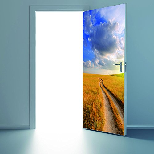 OIKAY Wandaufkleber 3D Wandaufkleber Aufkleber Kunst Decor Vinyl Removable Wandbild Poster Szene Fenster Tür hausgarten küche zubehör dekorative aufkleber wandbilder -