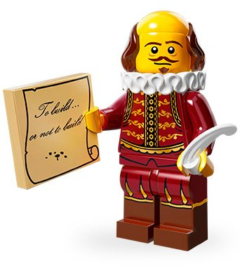 LEGO Minifiguren Movie Edition (Serie 12): William Shakespeare - Serie 12