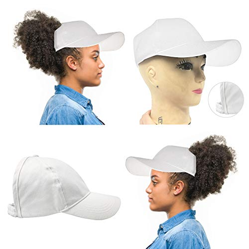 Dame Pferdeschwanz Cap Baseball Kappe Hip-Hop-Hut Pferdeschwanz Hut,Weiß Low-profile-mesh-hüte
