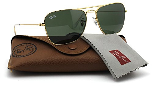 Ray-Ban RB3136 001 Caravan Sunglasses Gold Frame / Green Classic Lens 58mm
