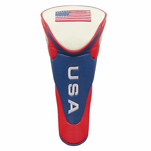 JP Lann Golf Headcover für Driver USA Flagge mit Reißverschluss (Flagge Headcover)