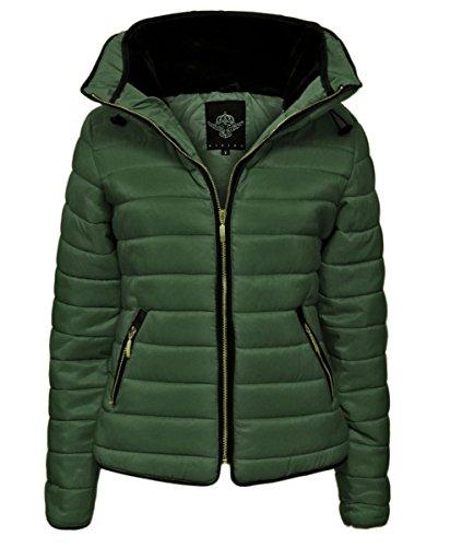Topfashion+ Damen Jacke, Einfarbig Gr. Übergröße 52/54, khaki