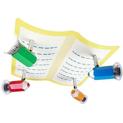 Bleistift Kinderlampe, Deckenlampe für Kinderzimmer, ca. 30 x 29 x 13 cm von Infantastic® bei Lampenhans.de