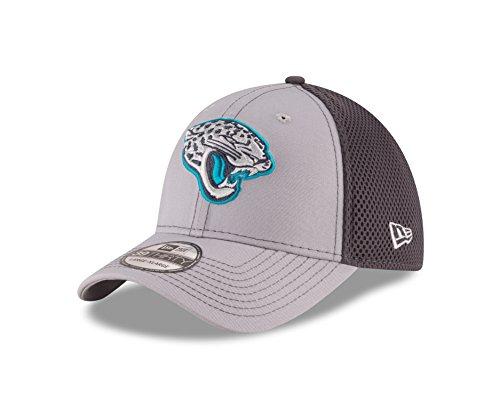 "Jacksonville Jaguars New Era NFL 39THIRTY ""Grayed Out Neo 2"" Flex Fit Hat Hut"