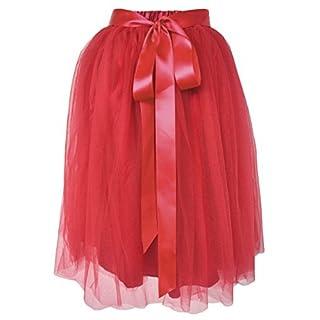 Dancina Women's Tutu Skirt A-Line Knee Length [EU 42-46] UK: Plus (Size 18-26) Red