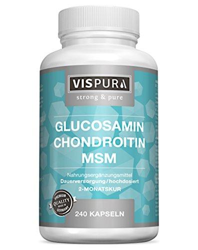 VITAL-Komplex mit Glucosamin Chondroitin MSM 240 Kapseln für 2 Monate mit Vitamin C Qualitätsprodukt-Made-in-Germany und 30 Tage kostenlose Rücknahme!