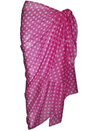 Pink Cotton Sarong with Polka Dot Design