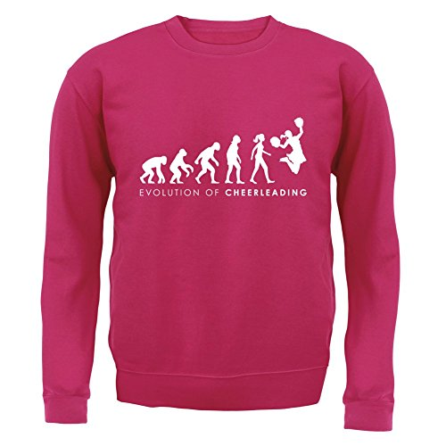 Evolution of Woman - Cheerleading - Kinder Pullover/Sweatshirt - Pink - XXL (12-13 (Lady Pink Kleinkind Kostüm)