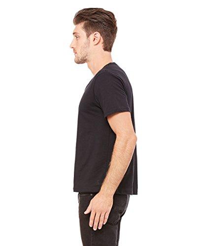 3406Bella + Canvas Herren Trikot breit Hals T-Shirt schwarz - Vintage Black