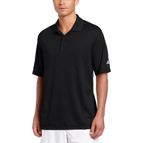 Adidas da uomo ad015blacm Climalite Solid Polo, nero, M