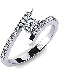 Moncoeur Damen-Ring Desir 925 Sterling Silber Swarovski Pavé