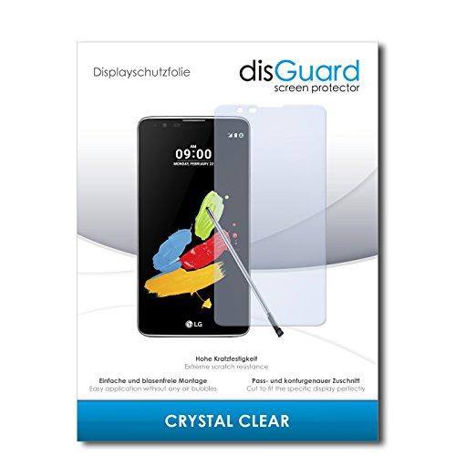 disGuard® Bildschirmschutzfolie [Crystal Clear] kompatibel mit LG Stylus 2 DAB+ [2 Stück] Kristallklar, Transparent, Unsichtbar, Extrem Kratzfest, Anti-Fingerabdruck - Panzerglas Folie, Schutzfolie