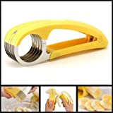 Kitchen Tool Stainless Steel Creative Banana Slicer Fruit Cucumber Cutter Chopper