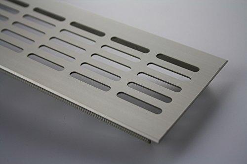 Aluminium Lüftungsgitter Stegblech Lüftungssieb Edelstahl eloxiert 80x500mm
