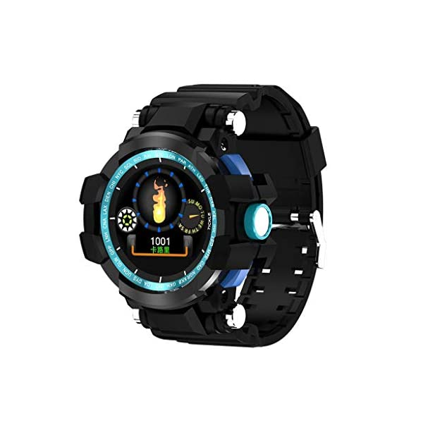 12shage Reloj Inteligente Hombre, IP68 Smartwatch con Pulsera Actividad Reloj Deportivo Monitor de Sueño Pulsómetro Podómetro para Andriod y iOS 1