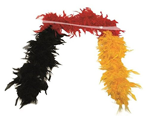 * FEDERBOA DEUTSCHLAND * als Verkleidung für EM, WM, Karneval oder Fussball Mottoparty // Geburtstag Kindergeburtstag Fan schwarz rot gold Germany 2016 2018 Boa