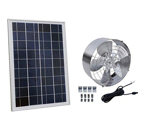 DCHOUSE Solar Power Attic Gable Fan with 65-Watt 18-Volt Efficient Brushless DC Motor and 25-Watt 18V Solar Panel