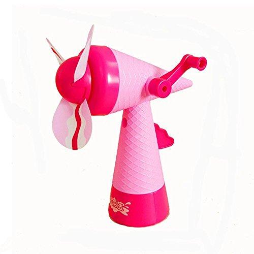 Omiky® Tragbare Kinder manuelle Hand Mini Fan Handheld keine batteriebetriebene Spielzeug (Zufällige Farbe)