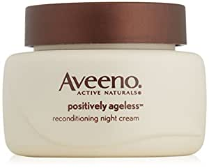 Aveeno Active Naturals Positively Ageless Night Cream with Natural Shiitake Complex 1.7 Ounce