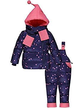 ZOEREA unisex bambino bambini di 3 pezzi snowsuit con cappuccio giubbotto imbottito fototecnica sci pantaloni...