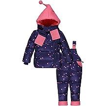 ZOEREA Chaqueta para niña Chaqueta de esquí para niño Pantalones de nieve y Bufanda