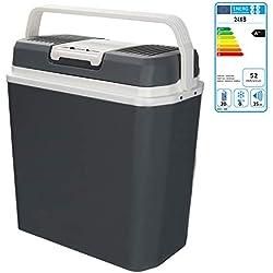 Hengda 24 litres Glacière Électrique Portable de roulettes Mini Réfrigérateur Poignée de Transport Chaud/Froid [Classe énergétique A++]